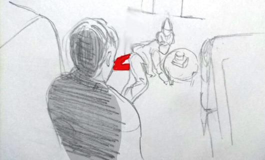 韓国映画「少女は悪魔をまちわびて」で被害者が殺されるイラスト