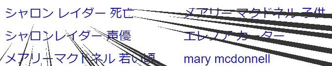シャロンレイダーで検索した結果の画像