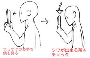 首のシワを確認する方法