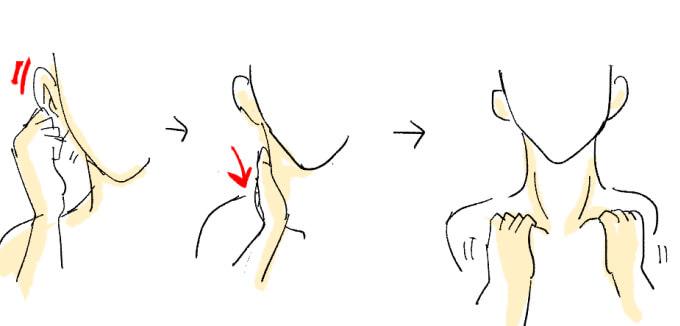首のシワを改善するマッサージ方法