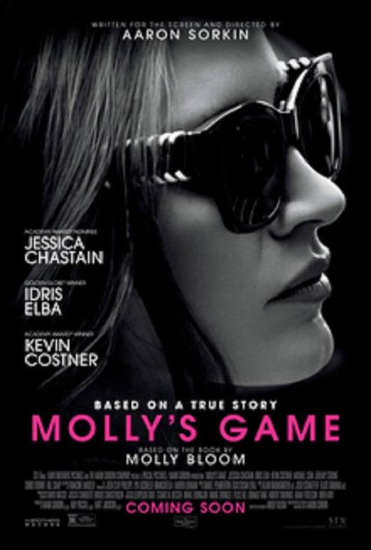 海外の映画「モリーズゲーム」のポスター